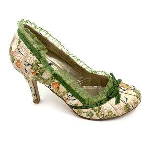 Styluxe pumps pinup ruffle bow sz 6 heels